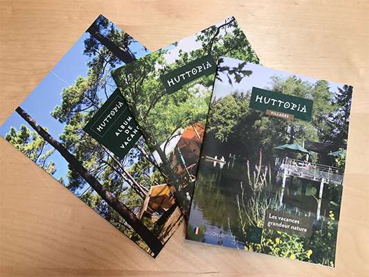 The Huttopia brochures